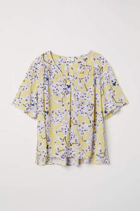 H&M Creped Blouse - Light yellow/floral - Women