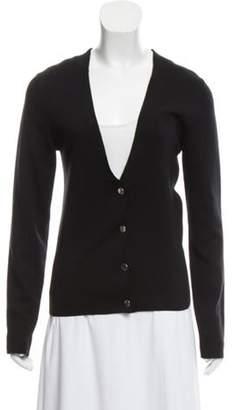 Balenciaga Silk Blended Lightweight Cardigan Black Silk Blended Lightweight Cardigan