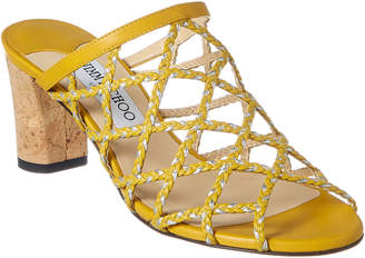 Jimmy Choo Dean 65 Braided Rope & Leather Sandal