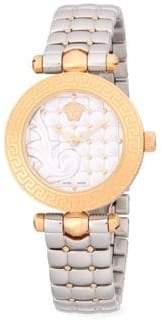 Versace Two-Tone Stainless Steel Bracelet Watch