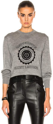 Saint Laurent University Cashmere Sweatshirt