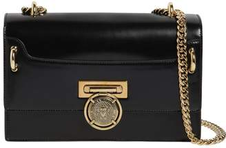 Balmain Box 25 Leather Shoulder Bag