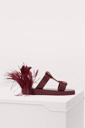 Valentino Escape feathers sandals