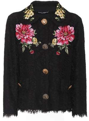 Dolce & Gabbana Cotton-blend lace jacket