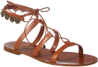 Christian Dior Zodiac Leather Sandal