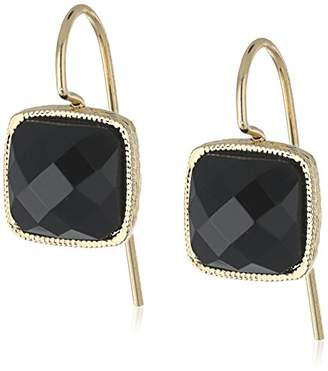 1928 Jewelry Gold-Tone Square Petite Drop Earrings