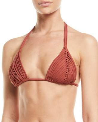 Pilyq Isla Braided Triangle Bikini Swim Top
