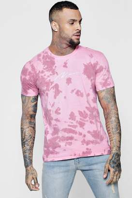 Tie Dye Embroidered MAN Signature T-Shirt