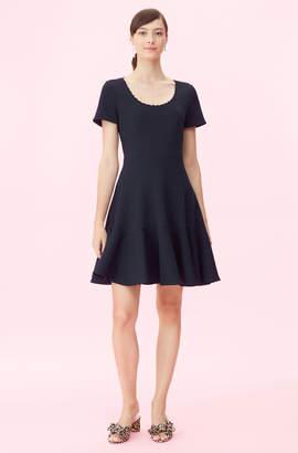 Rebecca Taylor Stretch Texture Scoop Neck Dress