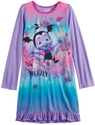 Disney Disney's Vampirina Girls 4-10 Knee Length Dorm Nightgown