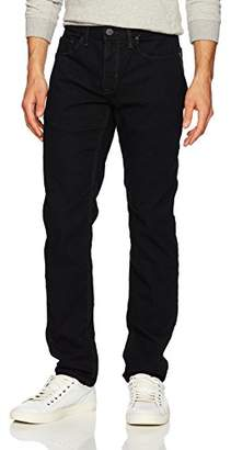 Perry Ellis Slim Fit Stretch Black Five Pocket Denim-Men's