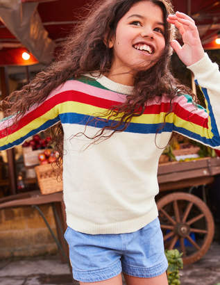 Boden Rainbow Stripe Jumper