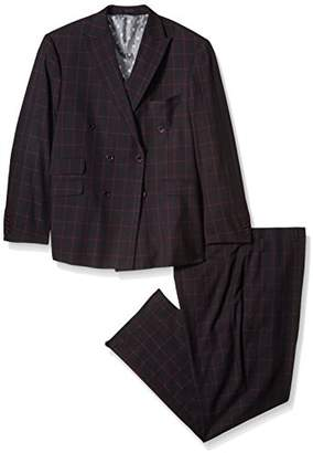 Stacy Adams Men's Big and Tall Sam Double Breasted Suit