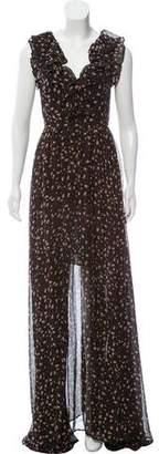 Rebecca Minkoff Floral Chiffon Maxi Dress