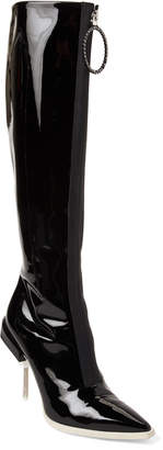 Emilio Pucci Patent Leather Screw-Heel Tall Boots