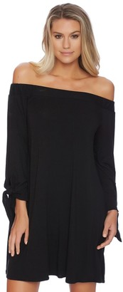 LUXE by Lisa Vogel Cold Shoulder Tie Sleeve Dress $94 thestylecure.com