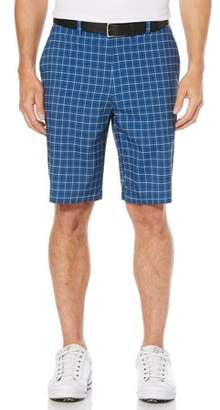 Hogan Ben Performance Men's Active Flex Flat-Front Printed Mini-Grid Short