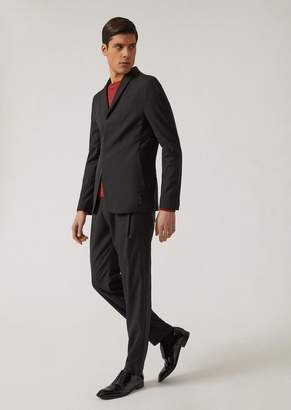 Emporio Armani Wool And Silk Unlined Suit