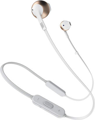 Jbl White & Rose Gold TUNE 205 Bluetooth Earbud Headphones