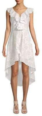 Embroidered Lace Hi-Lo Dress