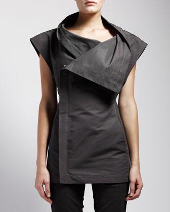 Rick Owens Sleeveless Asymmetric Jacket