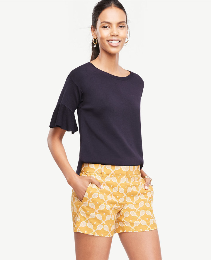 Ann TaylorRuffle Sleeve Sweater