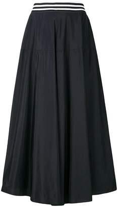 Federica Tosi stripe-trimmed full midi skirt