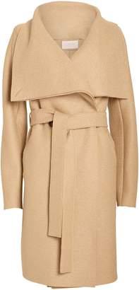Harris Wharf London Volcano Draped Collar Wool Coat