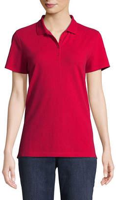 ST. JOHN'S BAY Short Sleeve Knit Polo Shirt