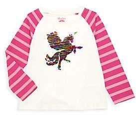 Hatley Little Girl's & Girl's Mythical Unicorn Sequin Raglan-Sleeve Tee