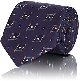 Tie Your Tie TIE YOUR TIE MEN'S GEOMETRIC-PRINT SILK TWILL NECKTIE-BLUE