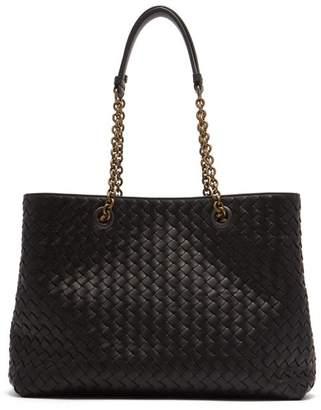 Bottega Veneta Intrecciato Medium Leather Tote - Womens - Black