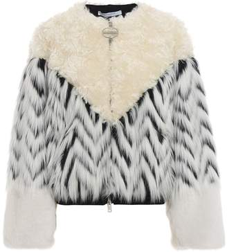 Givenchy Faux-fur Patchwork Bomber