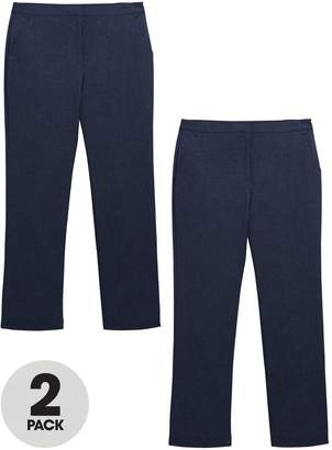 Very Girls 2 Pack Woven School Trousers