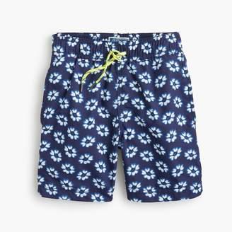 J.Crew Boys' swim trunk in blurry flowers