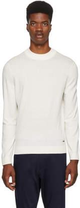 BOSS White Emilio Mock Neck Sweater