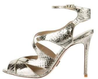 Michael Kors Metallic Snakeskin Sandals