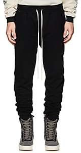 Fear Of God Men's Ankle-Zip Cotton Slim Sweatpants-Black