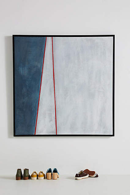 Blue White Red Wall Art