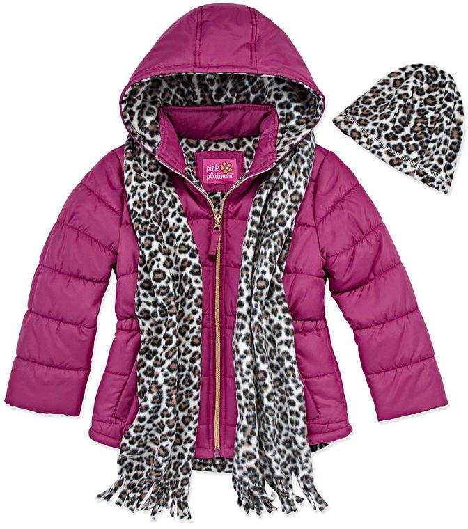 PINK PLATINUM Pink Platinum Heavyweight Puffer Jacket - Girls 4-16