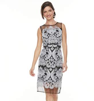 Jax Women's Mesh Lace Sheath Dress
