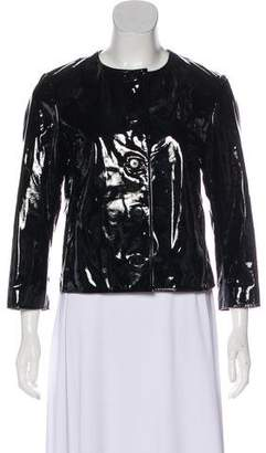 Ralph Lauren Black Label Patent Leather Crop Jacket w/ Tags