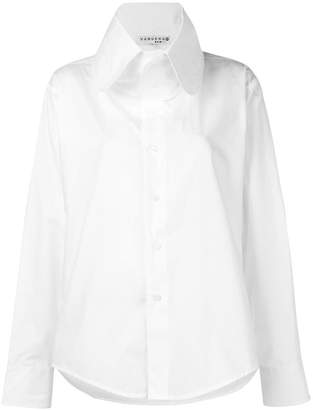 Vaquera oversized collar shirt