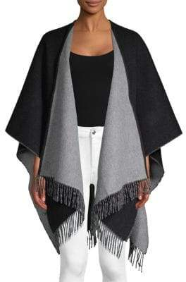 Amicale Double-Faced Merino Wool Ruana