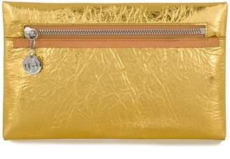 MM6 MAISON MARGIELA metallic zipped clutch