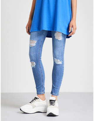 Hera Ripped skinny cotton-blend jeans
