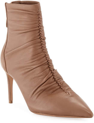 737736fc3cbe Alexandre Birman Suzana Ruched Leather Booties