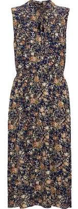 ADAM by Adam Lippes Metallic Floral-Print Silk Dress