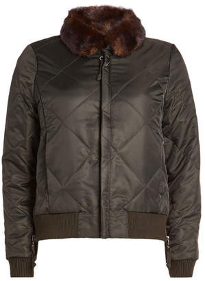 Steffen Schraut Bomber Jacket with Faux Fur Collar