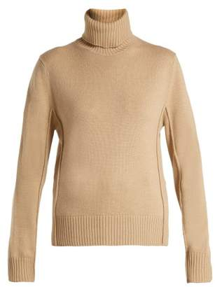 Chloé Roll Neck Cashmere Sweater - Womens - Light Brown